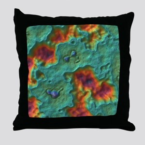 Smooth Grooves Throw Pillow