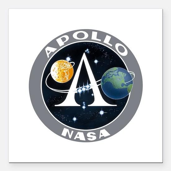 "Apollo Program Square Car Magnet 3"" x 3"""