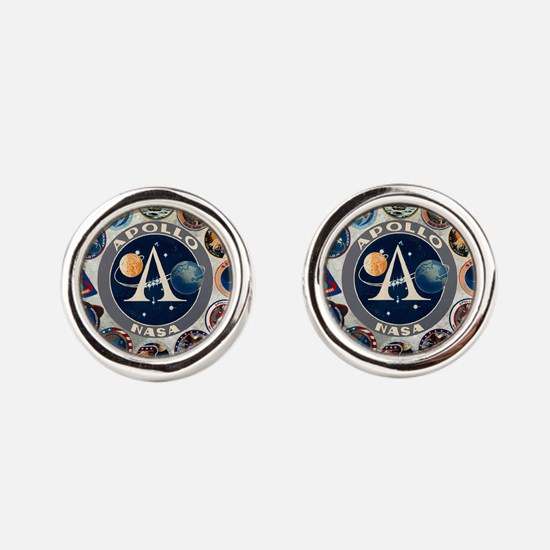 Commemorative Logo Round Cufflinks