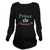 Prince or princess Dark Long Sleeve Maternity T-Shirt