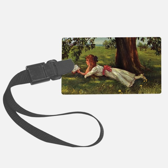 Reading Under A Tree Luggage Tag