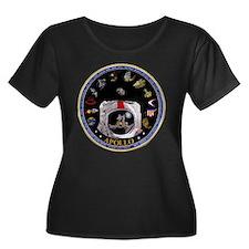 Crews of Women's Plus Size Scoop Neck Dark T-Shirt