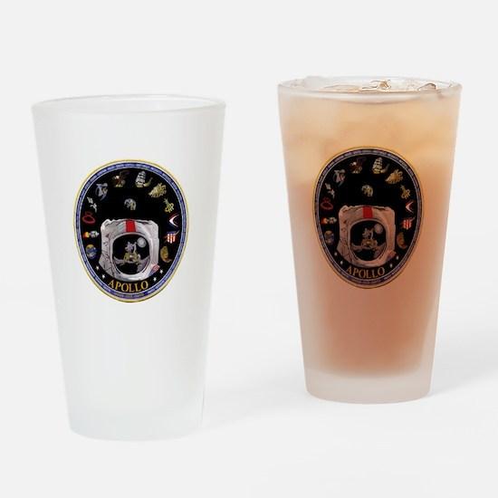 Crews of Apollo Drinking Glass