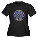 USS AINSWORT Women's Plus Size V-Neck Dark T-Shirt