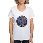 USS AINSWORTH Women's V-Neck T-Shirt
