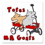 Totes MaGoats Red Wagon Square Car Magnet 3
