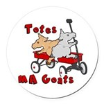 Totes MaGoats Red Wagon Round Car Magnet