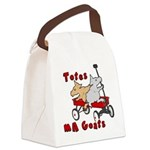 Totes MaGoats Red Wagon Canvas Lunch Bag