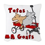 Totes MaGoats Red Wagon Woven Throw Pillow