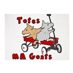 Totes MaGoats Red Wagon 5'x7'Area Rug