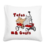 Totes MaGoats Red Wagon Square Canvas Pillow