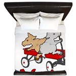 Totes MaGoats Red Wagon King Duvet