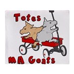 Totes MaGoats Red Wagon Throw Blanket