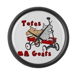 Totes MaGoats Red Wagon Large Wall Clock