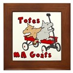 Totes MaGoats Red Wagon Framed Tile