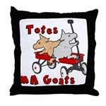 Totes MaGoats Red Wagon Throw Pillow