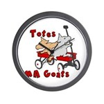 Totes MaGoats Red Wagon Wall Clock