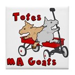 Totes MaGoats Red Wagon Tile Coaster