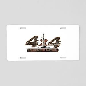 4x4 Rig Up Camo Aluminum License Plate