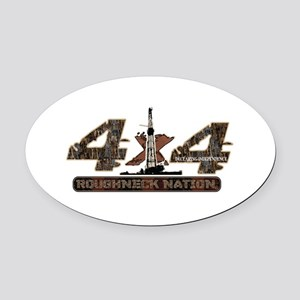 4x4 Rig Up Camo Oval Car Magnet