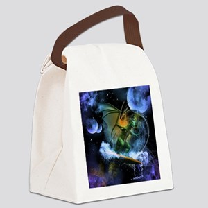Surfing dragon Canvas Lunch Bag