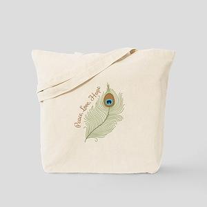 Peace,Love, Hope Tote Bag
