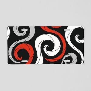 Swirls Aluminum License Plate