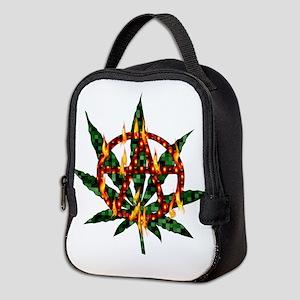 Fiery Anarchist Marijuana Neoprene Lunch Bag