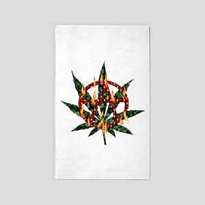 Fiery Anarchist Marijuana 3'x5' Area Rug