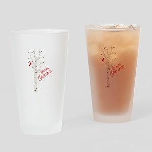 Seasons Greetings Drinking Glass