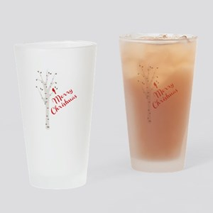 merry Chirstmas Drinking Glass
