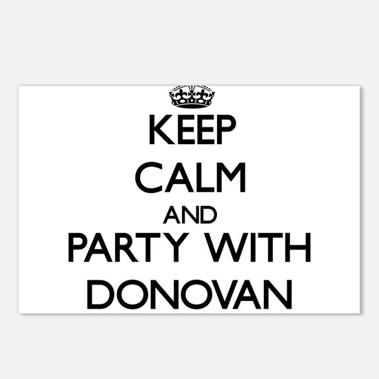 Keep calm and Party with Donovan Postcards (Packag