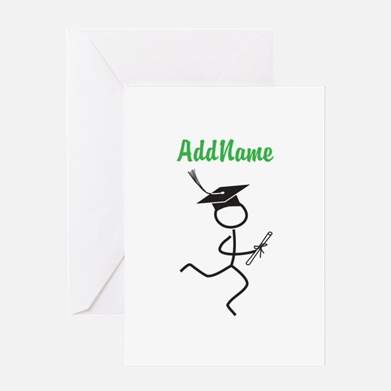Customize Graduation Runner Greeting Card