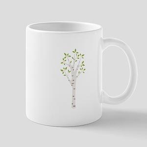 Spring Birch Tree Blooming Flowers Mugs