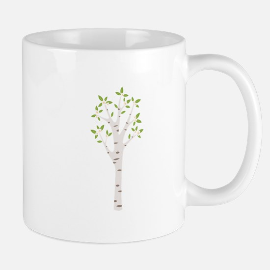 Spring Birch Tree Blooming Flowers Mugs