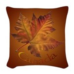 Canada Maple Leaf Woven Throw Pillow
