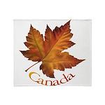 Canada Maple Leaf Throw Blanket