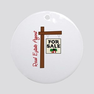 Real Estate Agent For Slae Ornament (Round)