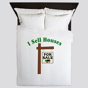 I SELL HOUSES FOR SALE Queen Duvet