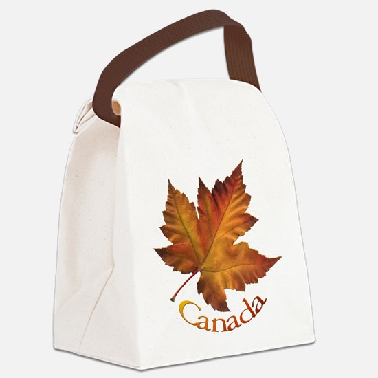 Canada Maple Leaf Souvenir Canvas Lunch Bag