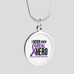 Cystic Fibrosis Real Hero 2 Silver Round Necklace