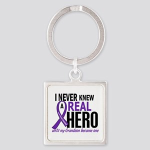 Cystic Fibrosis Real Hero 2 Square Keychain