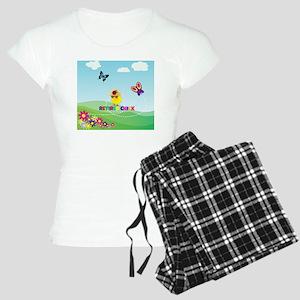 Retired Chick, Flowers and  Women's Light Pajamas