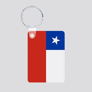 Chile Flag Aluminum Photo Keychain