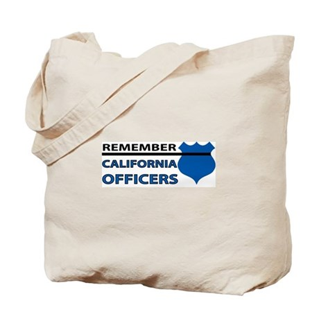 Remember California Officers Tote Bag