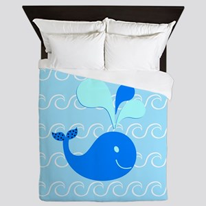 Playing in the Waves Queen Duvet