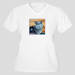 """Adopt"" Women's Plus Size V-Neck T-Shirt"