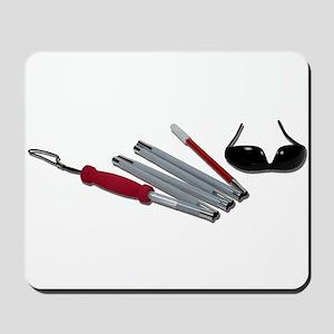 FoldedCaneBlindGlasses051211 Mousepad