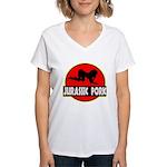 Jurassic Pork Women's V-Neck T-Shirt
