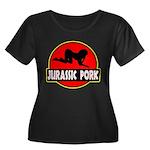 Jurassic Pork Women's Plus Size Scoop Neck Dark T-